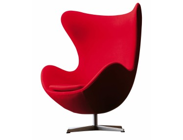 Le fauteuil Oeuf (Egg Chair), design Arne Jacobsen, 1958